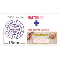 Promotion Security  Sticker  printing